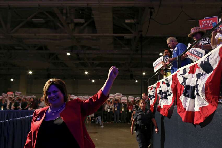 Leticia Van de Putte, State Senator and candidate for Lt. Governor, walks to the stage to deliver her speech at the Texas Democratic State Convention at the Dallas Convention Center in Dallas on Friday, June 27, 2014.