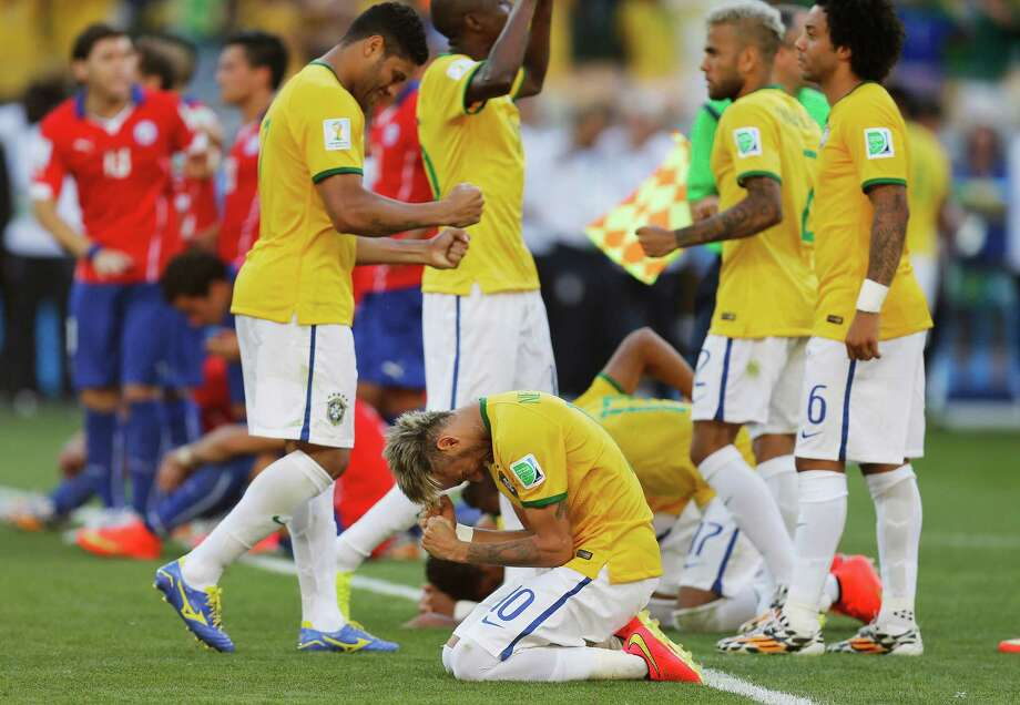 June 28  Brazil 1, Chile 1 (Brazil wins PK shootout 3-2) Photo: Frank Augstein, Associated Press / AP