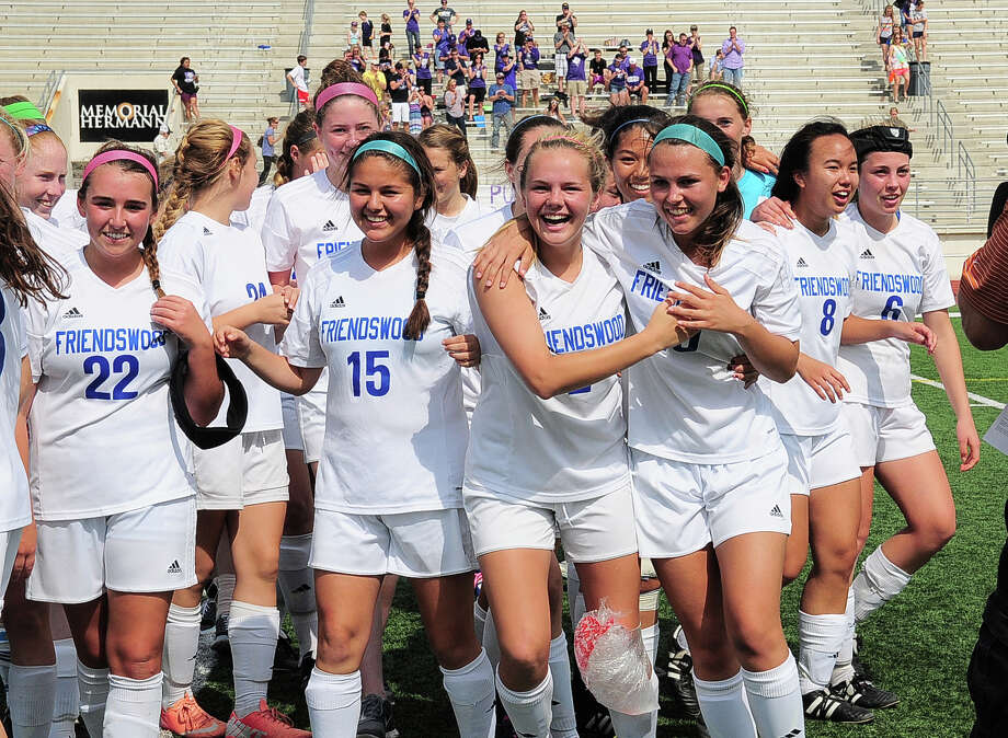 The Friendswood girls soccer team celebrates its Class 4A Region III championship - and a trip to the state tournament - at Turner Stadium in Humble. Photo: Â Tony Bullard 2014, Freelance Photographer / © Tony Bullard & the Houston Chronicle
