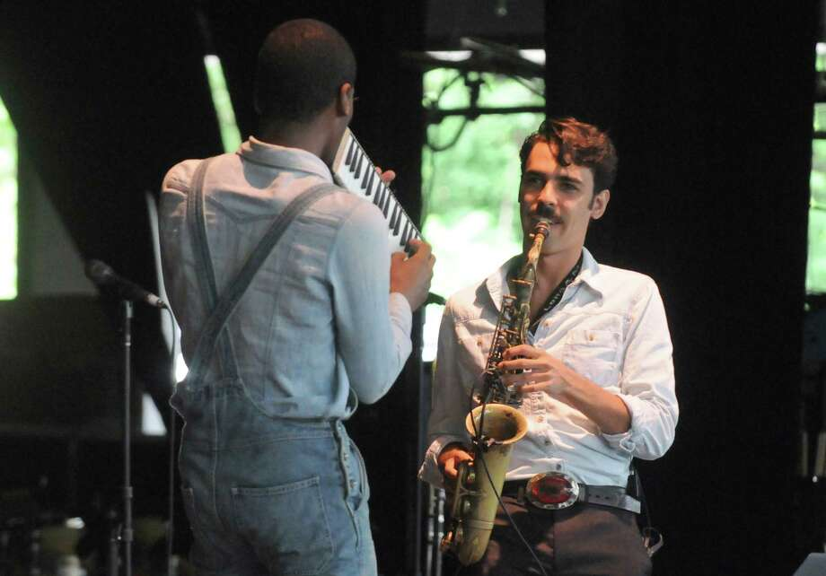Jon Batiste & Stay Human perform on the main stage during the 2014 Freihofer's Saratoga Jazz Festival  on Saturday June 28, 2014 in Saratoga Springs, N.Y. (Michael P. Farrell/Times Union) Photo: Michael P. Farrell / 00027434A