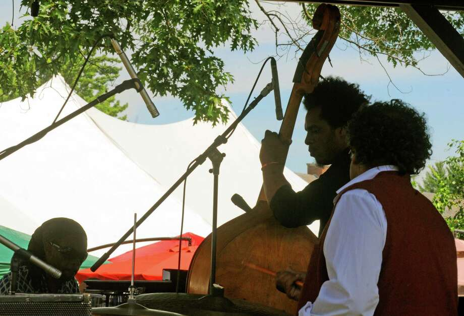 The Marc Cary Focus Trio performs on the gazebo stage during the 2014 Freihofer's Saratoga Jazz Festival  on Saturday June 28, 2014 in Saratoga Springs, N.Y. (Michael P. Farrell/Times Union) Photo: Michael P. Farrell / 00027434A