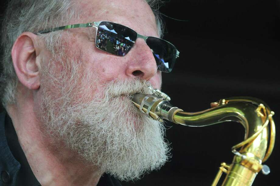Lew Tabackin with his Trio performs on the gazebo stage during the 2014 Freihofer's Saratoga Jazz Festival  on Saturday June 28, 2014 in Saratoga Springs, N.Y. (Michael P. Farrell/Times Union) Photo: Michael P. Farrell / 00027434A