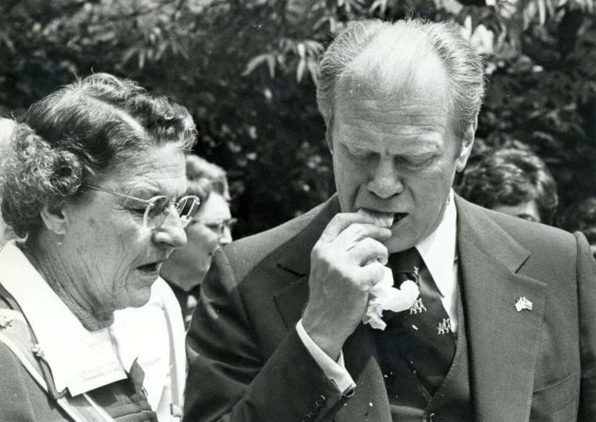 1. President Gerald Ford's 1976 visit, when he bit into a tamal, husk and all, is part of San Antonio food lore. Ford served as both vice president and president without being elected to either office.