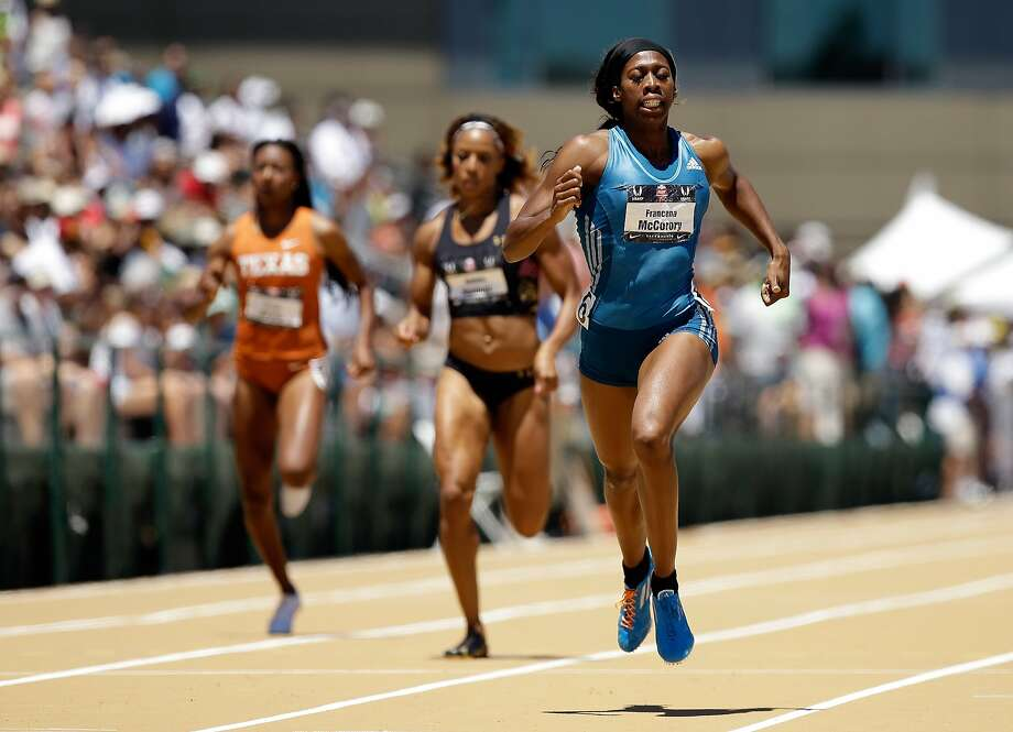 Francena McCorory leaves the field in the dust in running the fastest women's 400 meters in the world this season at the U.S. Outdoor Track and Field Championships in Sacramento. Photo: Ezra Shaw, Getty Images