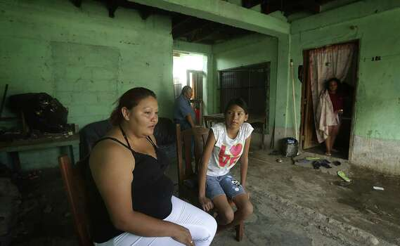 Fany Galeano, 30, and her 12-year-old daughter, Keyla, were making their way north when they were caught in Veracruz, Mexico, and deported. They'll try again to get to Houston, where family members live. Photo: Bob Owen / San Antonio Express-News / ©2013 San Antonio Express-News