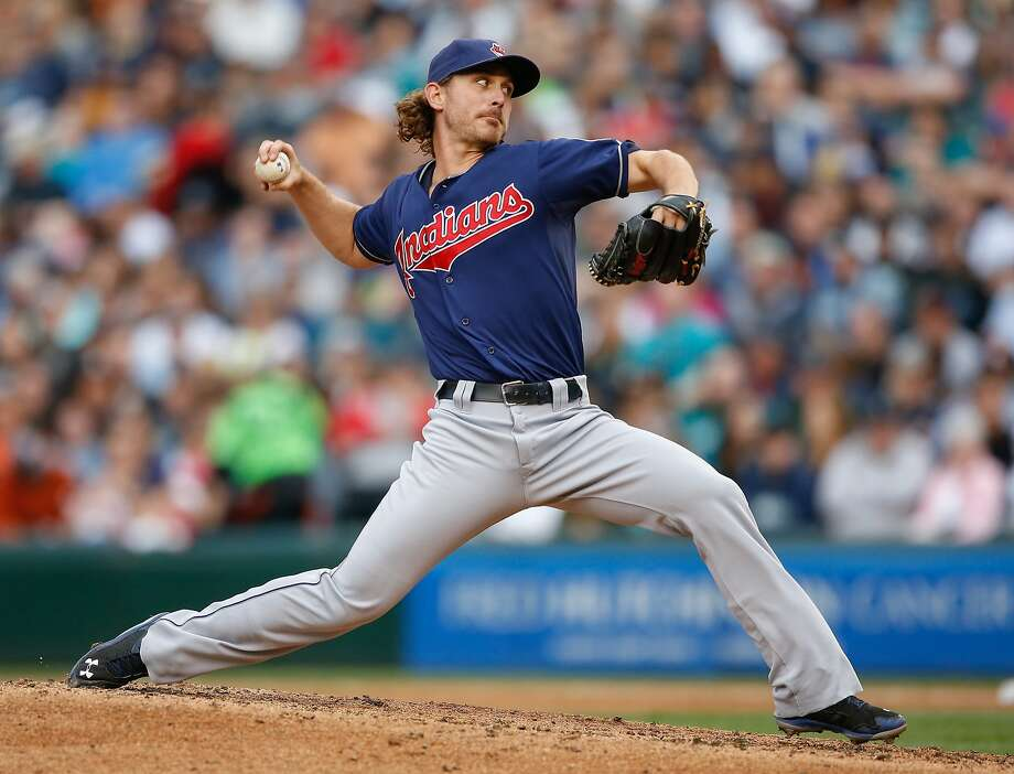 Cleveland's Josh Tomlin pitched a one-hitter with 11 strikeouts in a shutout of Seattle. Photo: Otto Greule Jr, Getty Images