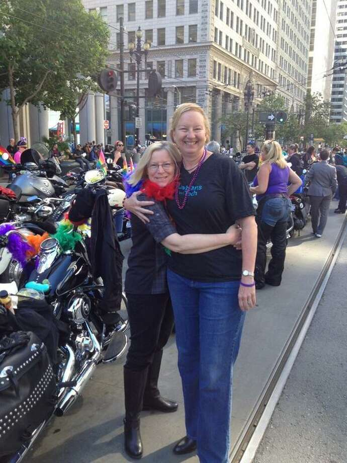 """We still do Dykes On Bikes to show our pride for the city of San Francisco."" - Cindy Solomon Photo: The Chronicle"