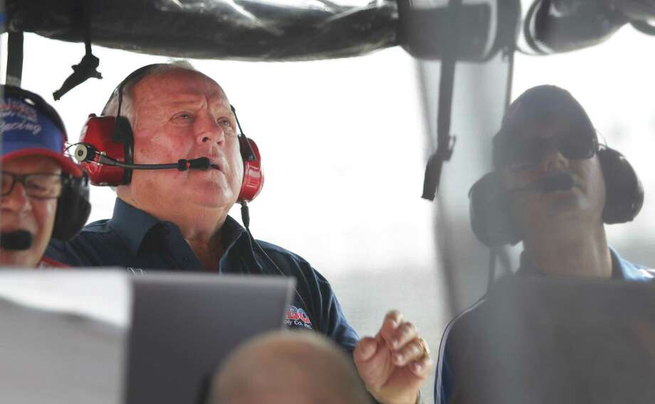 Owner A.J. Foyt is shown in the pit during a qualifying session for his IndyCar driver Takuma Sato in the IndyCar Series Race #2 at the Grand Prix of Houston at NRG Park Sunday, June 29, 2014, in Houston. Photo: Melissa Phillip, Houston Chronicle / © 2014  Houston Chronicle