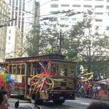 A decked-out trolley