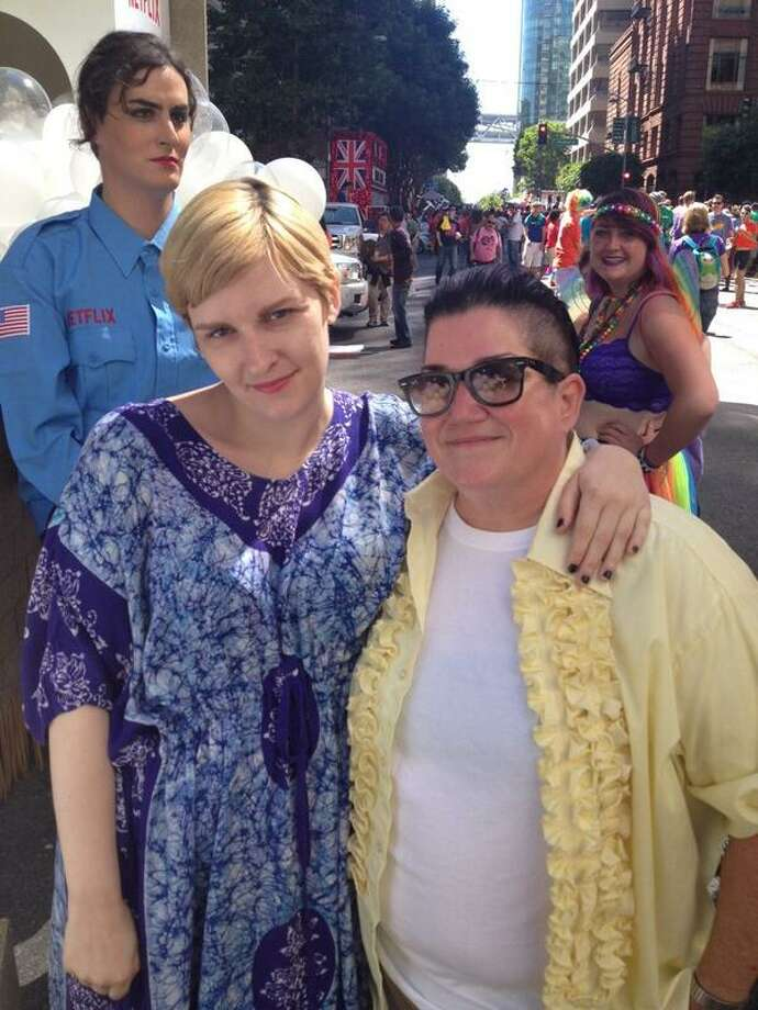 Lea DeLaria and Chelsea Fairless. Photo: The Chronicle