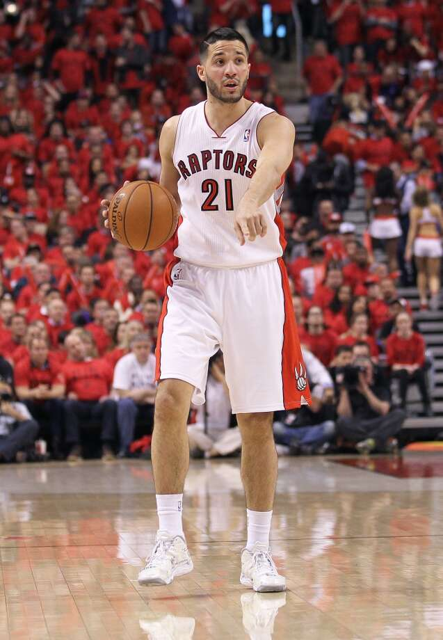 26. Greivis Vasquez, G, Toronto RaptorsIt seems questionable that the Raptors could keep both free agent point guards, but if Lowry leaves, Vasquez would be a priority. Like Lowry, he exceled at the right time. Photo: Claus Andersen, Getty Images