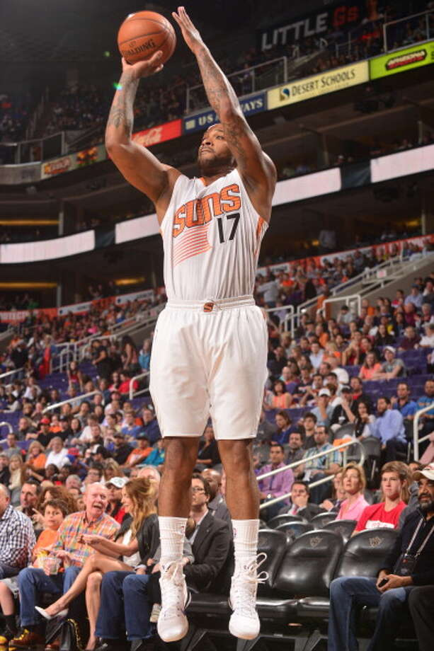 21. P.J. Tucker, F, Phoenix SunsThe Suns love Tucker's defense and toughness and seem determined to keep those qualities around by matching offers he will surely get. It's unlikely someone will offer more than Phoenix would match. Photo: Barry Gossage, NBAE/Getty Images / 2014 NBAE