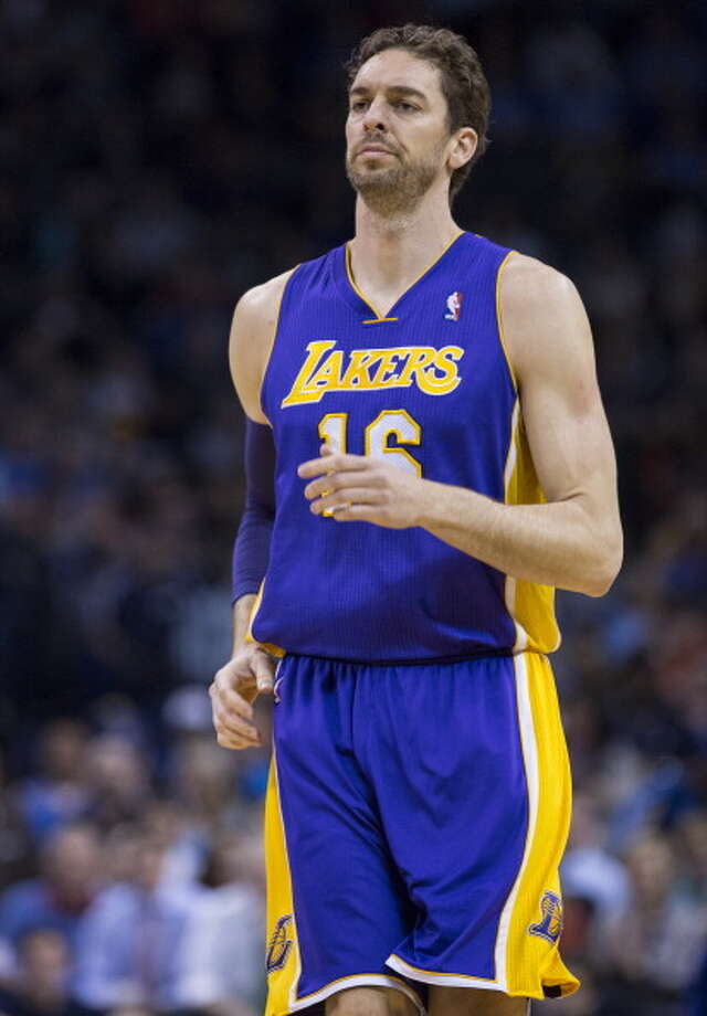 14. Pau Gasol, F/C, Los Angeles Lakers Gasol fell off badly last season, especially defensively, but some of that might be attributed to the issues of the Lakers as a whole. It seems time for both sides to move on, with many expecting Gasol to be a key pick up for a contender even if he is starting to show the years. Photo: Richard Rowe, NBAE/Getty Images / 2014 NBAE
