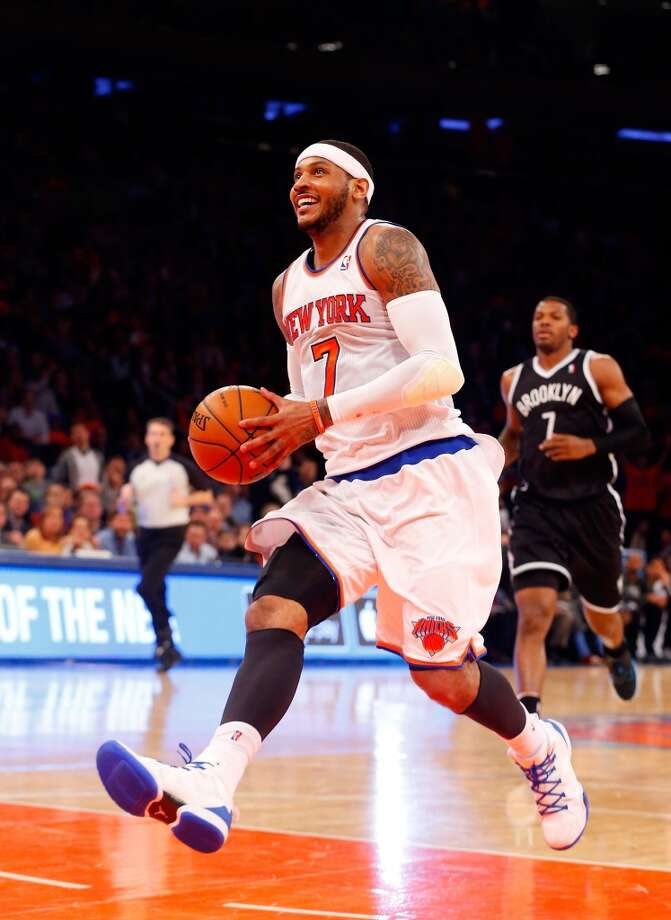2. Carmelo Anthony, F, New York Knicks Anthony had been clear that he would opt out and check out his options elsewhere. The Knicks will have a hard time quickly rebuilding a lottery team and Anthony said he will look for the best chance to win, but he would have to leave far more salary than anyone has to join a contender. Photo: Jim McIsaac, Getty Images