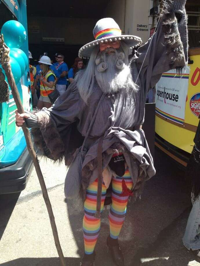 #GandalfTheGay exposes himself for LGBT Seniors. Photo: The Chronicle