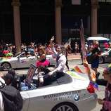 Honorary Grand Marshal Chelsea Manning at the 44th annual S.F. Pride parade on Sunday, June 29, 2014.