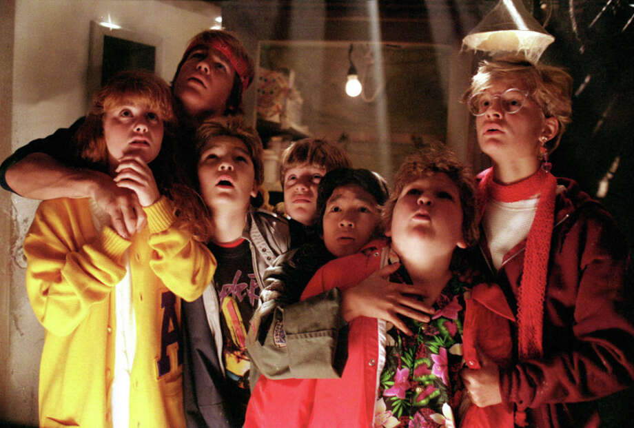 "Rediscover your love for classic adventure film ""The Goonies"" (1985) or bring your kiddos and adult Goonies newbies along to a screening in Travis Park. The movie will be projected onto one of Slab Cinema's inflatable screens just after sunset, so grab your blankets, lawn chairs and snacks and find your spot in the park. 8 p.m., Travis Park, 311 E Travis St. Free to attend, slabcinema.com-- Polly Anna Rocha Photo: Contributed Photo, Stamford Advocate Contribured / Stamford Advocate Contribured"
