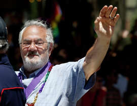 """Barney Frank attends the 2014 Pride Parade in San Francisco. He will be in Berkeley to discuss his new book, """"Frank: A Life in Politics From the Great Society to Same-Sex Marriage."""""""