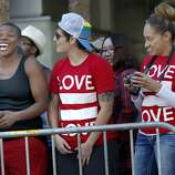 """The crowd along Market Street enjoyed the spectacle. The annual Gay Pride parade on Market Street was held in San Francisco, Calif. Sunday June 29, 2014 and the theme was """"Color Our World With Pride."""""""