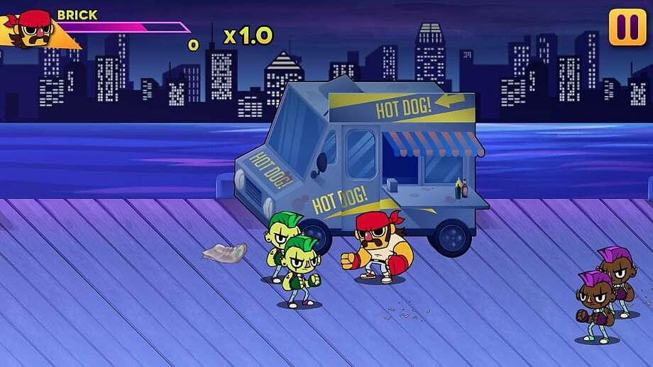 Big Action Mega Fight! is a mobile beat 'em up game for iOS and Android devices. Photo: Double Stallion Games