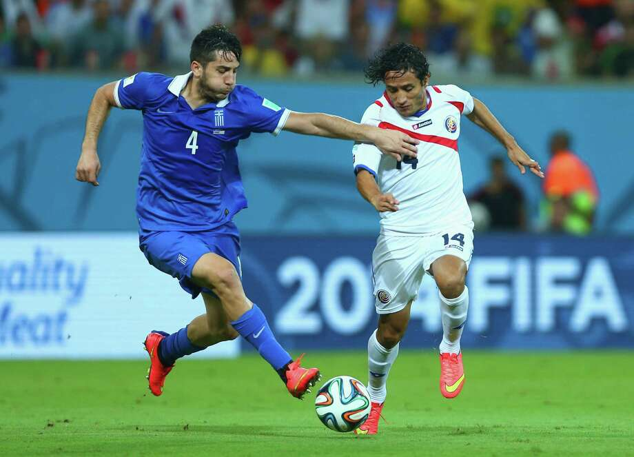 June 29  Costa Rica 1, Greece 1 (Costa Rica wins PK shootout 5-3) Photo: Jeff Gross, Getty Images / 2014 Getty Images