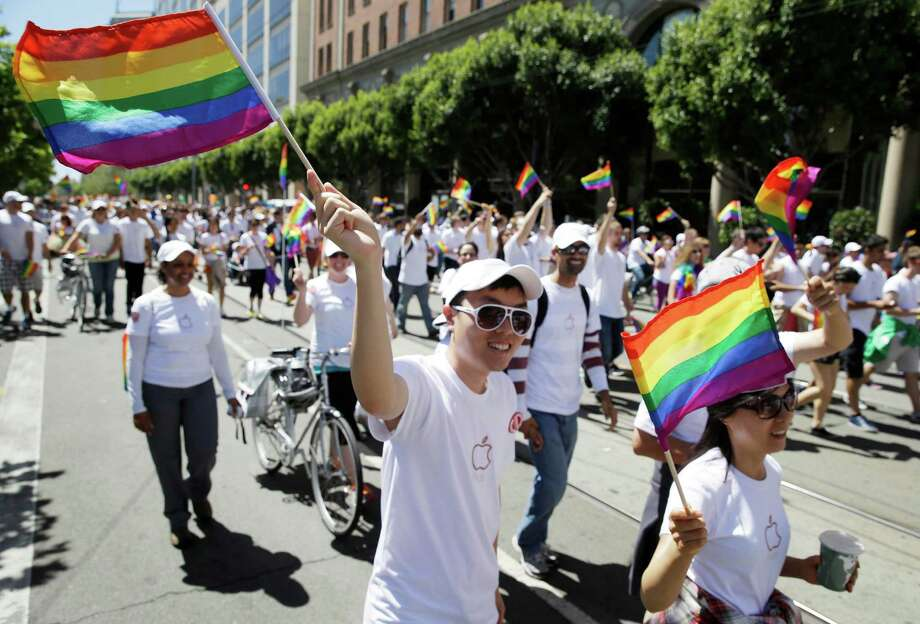 A study published this month in the American Political Science Review ranks U.S. cities with more than 275,000 people by political ideology. San Francisco, shown above during the 44th annual San Francisco Gay Pride parade Sunday, June 29, 2014, was deemed the most liberal U.S. city, the study found.Scroll through the slideshow to see which are the most liberal and most conservative cities in the nation. Photo: Eric Risberg, Associated Press / AP