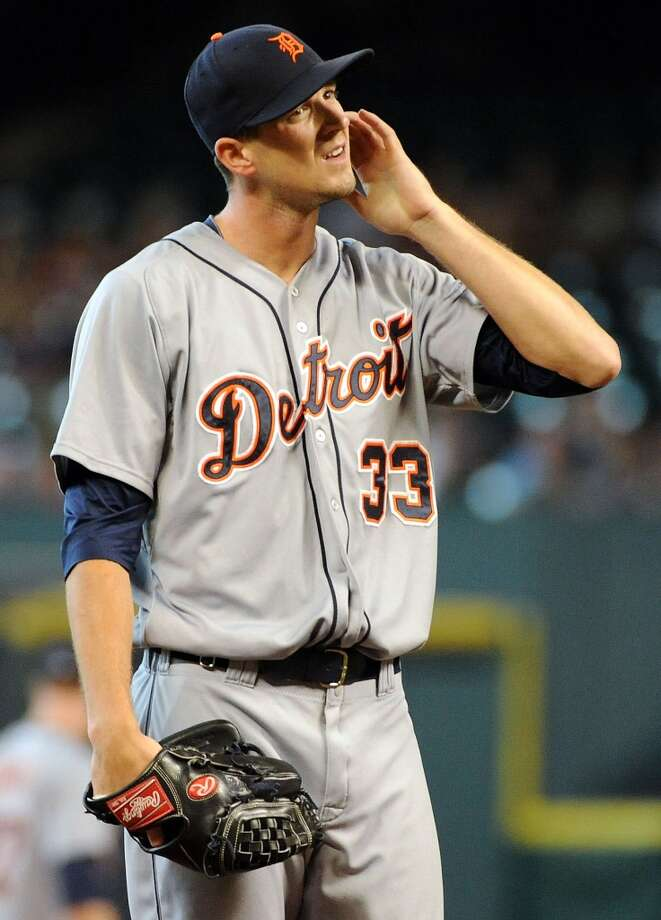 Tigers pitcher Drew Smyly reacts after giving up a run. Photo: Eric Christian Smith, For The Chronicle