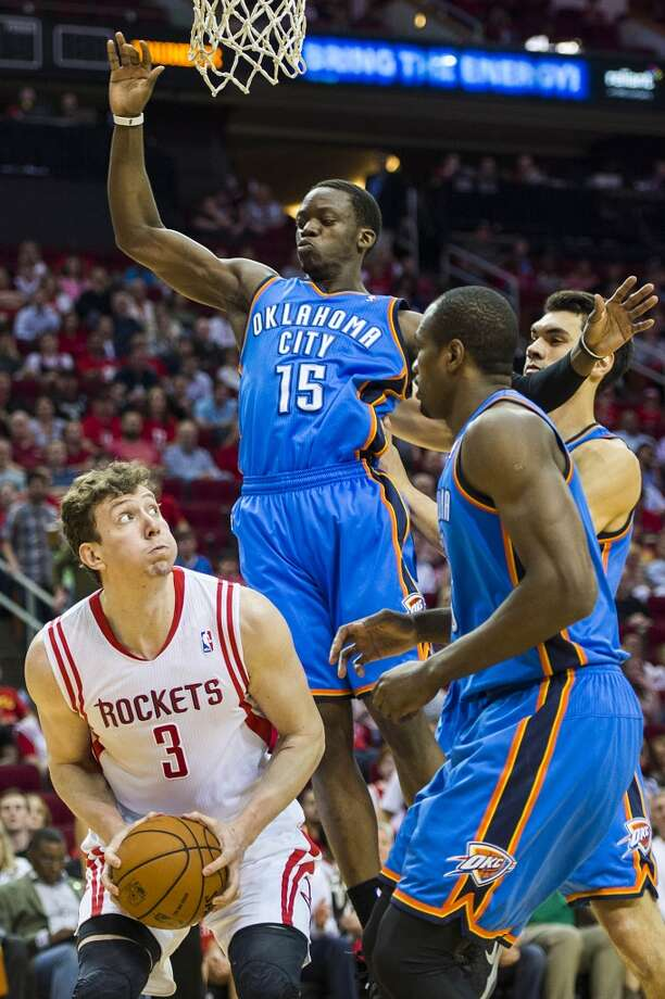 April 4: Rockets 111, Thunder 107  The Rockets earned their 50th win of the season in style by knocking off the Thunder for the first time this season and also clinching a playoff berth.  Record: 50-25 Photo: Smiley N. Pool, Houston Chronicle