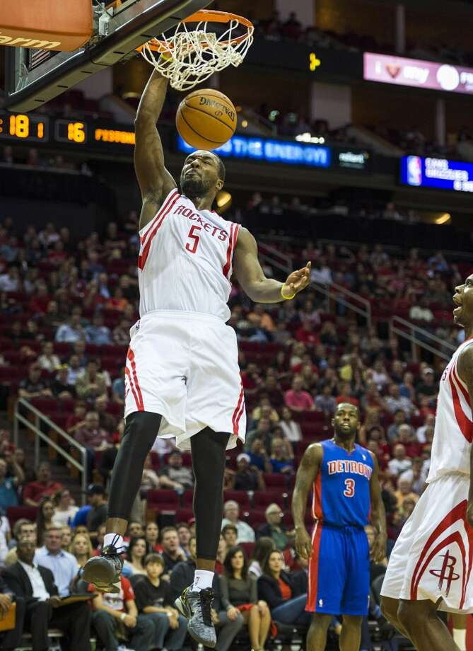 March 1: Rockets 118, Pistons 110  Houston got its 40th win of the season by dominating the first half against Detroit and then holding the Pistons off as they tried to make a late-game comeback.  Record: 40-19 Photo: Smiley N. Pool, Houston Chronicle