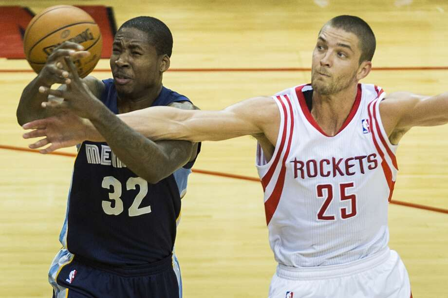 Jan. 24:  Grizzlies 88, Rockets 87  Chandler Parsons set an NBA record with 10 second-half three-pointers and James Harden set a career high with 13 assists, but the Rockets couldn't get it done in the loss to the Grizzlies.  Record: 29-16 Photo: Smiley N. Pool, Houston Chronicle