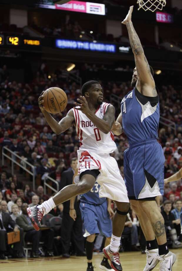 Nov. 23: Rockets 112, Timberwolves 101   Aaron Brooks' 26 points off the bench sparked the Rockets past the Timberwolves.  Record: 9-5 Photo: Bob Levey, Houston Chronicle