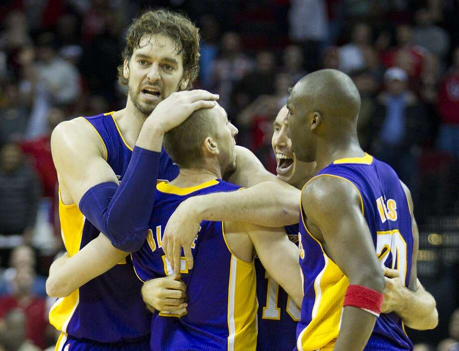 Nov. 7: Lakers 99, Rockets 98   Steve Blake hit a game-winning three in the closing seconds as the Rockets' late rally fell just short.  Record: 4-2 Photo: Brett Coomer, Houston Chronicle