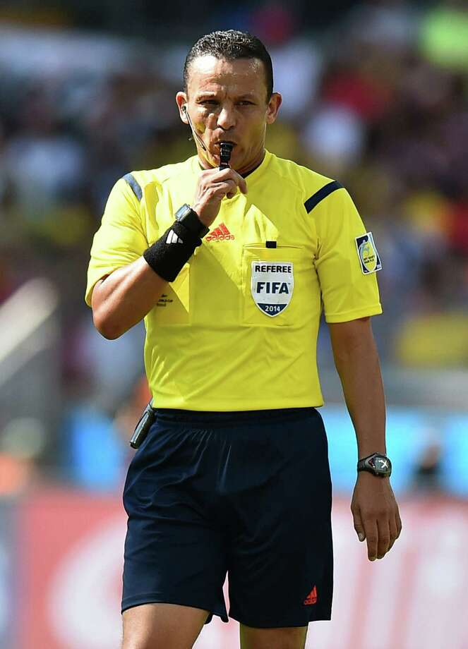 Djamel Haimoudi will be the man with the whistle in the United States' match Tuesday. Photo: Ben Stansall / AFP / Getty Images / AFP