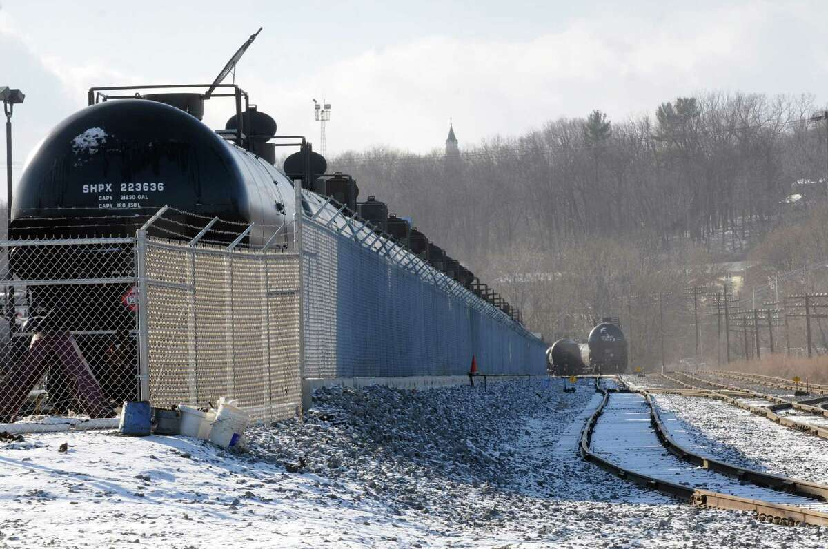 Rail oil tanker cars at the Port of Albany on Thursday Dec. 12, 2013 in Albany, N.Y. (Michael P. Farrell/Times Union)