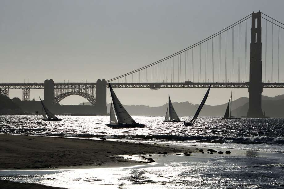 The bay is ideal for sailors, or for others who like watching the sailboats, kiteboards, and other various contraptions on the bay. Photo: Carlos Avila Gonzalez, The Chronicle