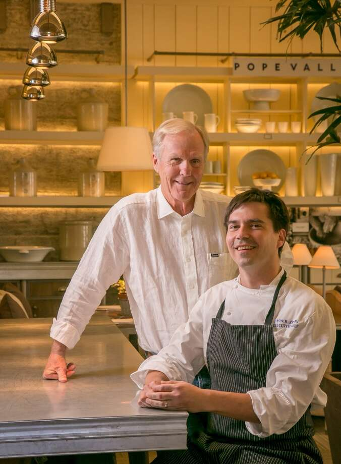 Chef Ryder Zetts and designer/owner Howard Backen at Archetype in St. Helena. Photo: John Storey, Special To The Chronicle