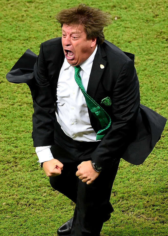 "Miguel ""Piojo"" Herrera coaches Mexico's national soccer team. In fútbol the name of the game is exuberance. Photo: Laurence Griffiths / Getty Images / 2014 Getty Images"