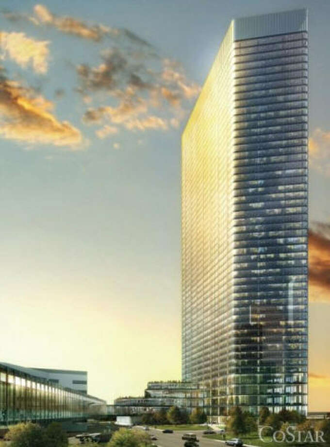 Five Allen Center:Brookfield Properties could potentially develop a 50-story, 1 million-square-foot office tower at Allen Center. Photo: Brookfield Properties Via The Downtown District