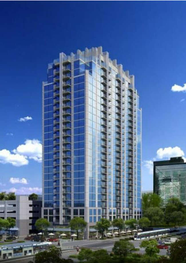 Skyhouse Houston: The 24-story, $67 million apartment development includes 336 units, most of which will be one-bedrooms and studios. SkyHouse is being built on a full city block bounded by Main, Bell, Leeland and Fannin. The address is 1625 Main. Photo: Smallwood, Reynolds, Et Al.