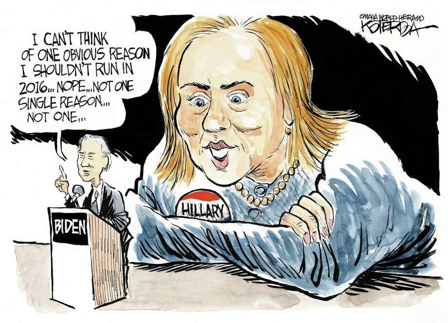 Jeff Koterba  February 9 2014 Biden Hillary
