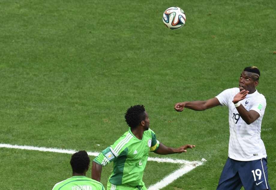 June 30  France 2, Nigeria 0 Photo: EVARISTO SA, AFP/Getty Images / AFP