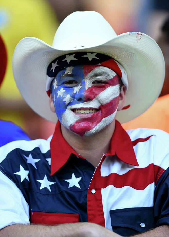 MANAUS, BRAZIL - JUNE 22: A fan of the United States looks on prior to the 2014 FIFA World Cup Brazil Group G match between the United States and Portugal at Arena Amazonia on June 22, 2014 in Manaus, Brazil. Photo: Christopher Lee, Getty Images / 2014 Getty Images