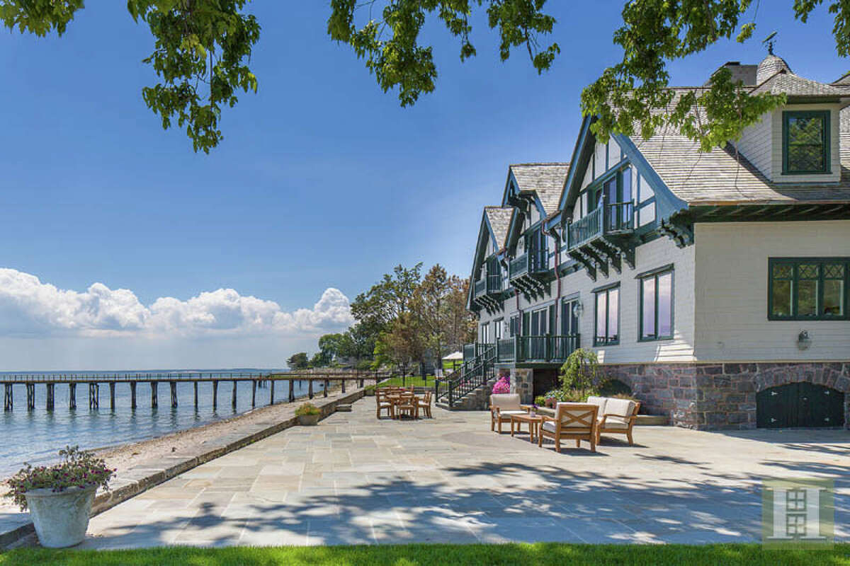 The home at 209 Long Neck Point in Darien, which once belonged to actor Christopher Plummer, sold in May for $26 million. Click here to tour the home.