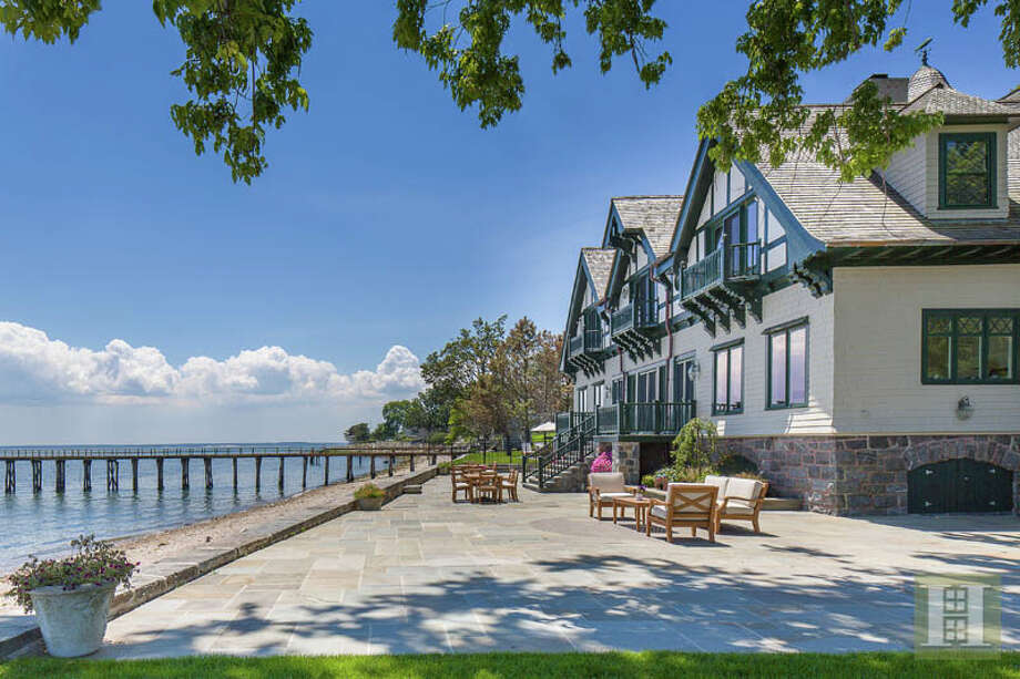 The home at 209 Long Neck Point in Darien, which once belonged to actor Christopher Plummer, sold in May for $26 million. Click here to tour the home.  Photo: Tim Lee, © Tim Lee Photography / © Tim Lee Photography