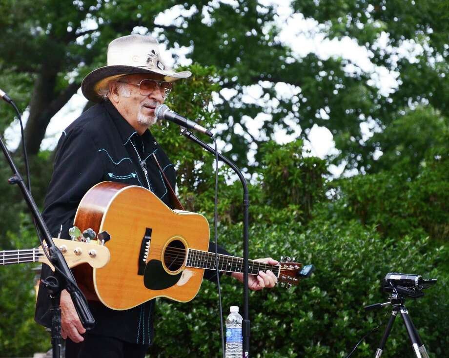 "Country music veteran Nick DeMaio Sr., also known as ""The Ambassador,"" plays the guitar and sings with Gunmoke at Waveny Summer Concerts Wednesday, June 25, 2014, at Waveny Park, New Canaan, Conn. Photo: Nelson Oliveira / New Canaan News"