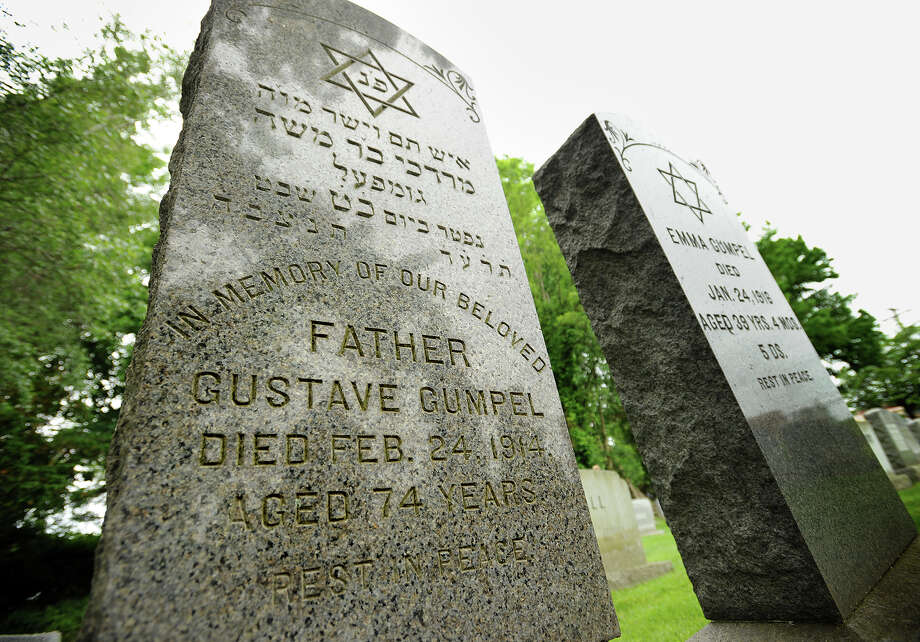 The grave of Gustave Gumpel, a rabbi and butcher, grandfather of New York Cardinal John Joseph O'Connor, at the Congregation B'Nai Israel cemetery on Kings Highway in Fairfield, Conn. on Wednesday, June 11, 2014. Photo: Brian A. Pounds / Connecticut Post