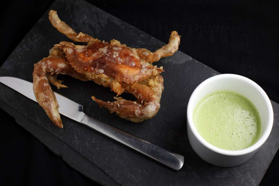 Soft shell crab tempura with ramp butter sauce at Lazy Bear. Photo: Sarah Rice, Special To The Chronicle