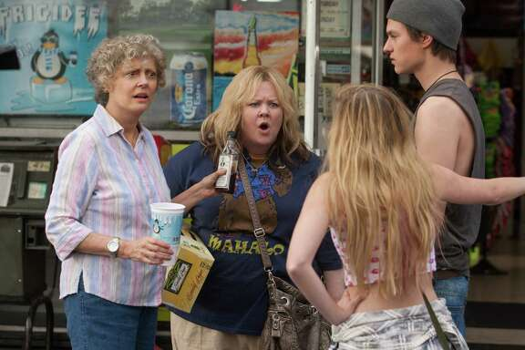 "Pearl (Susan Sarandon, left) shares an adventure with granddaughter Tammy (Melissa McCarthy) in ""Tammy."""