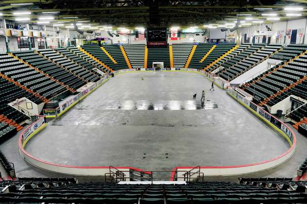 A view inside at the Glens Falls Civic Center Monday, June 30, 2014, in Glens Falls, N.Y.  The city-owned Civic Center is up for sale. Bidding starts at $1.5 million. (Paul Buckowski / Times Union archive) Photo: Paul Buckowski / 00027571A