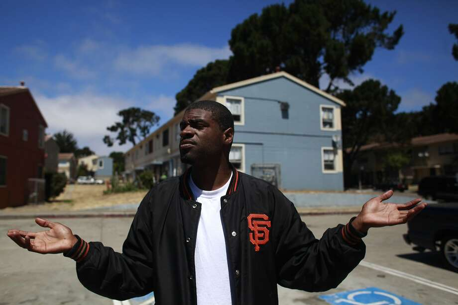 Allen Calloway is seen in a June 28, 2012 file photo, speaking about Mayor Ed Lee's stop-and-frisk policy in San Francisco, Calif. He was shot and killed while playing  dodgeball with children on a new basketball court at Herz playground on  June 27, 2014. Photo: Mike Kepka, The Chronicle